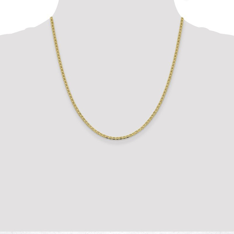 Quality Gold 10k 2.4mm Flat Anchor Chain Anklet