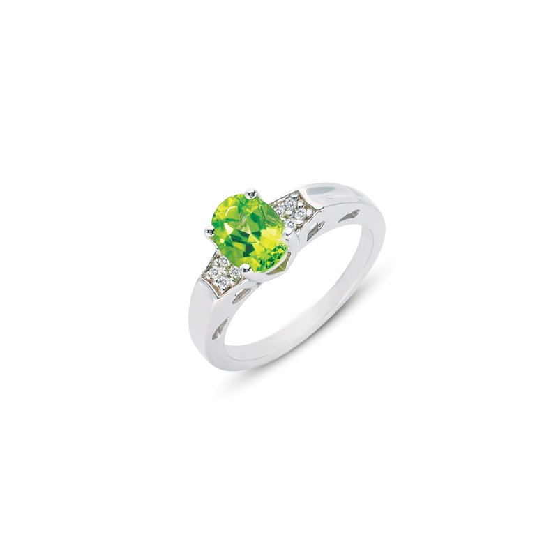 S. Kashi  & Sons Peridot & Diamond Ring