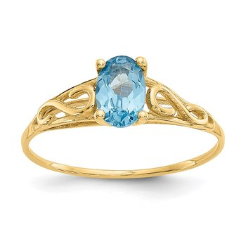 14k Madi K Synthetic Blue Zircon Ring