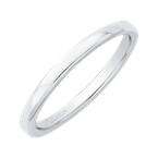 Promezza Plain Wedding Band In 14K White Gold