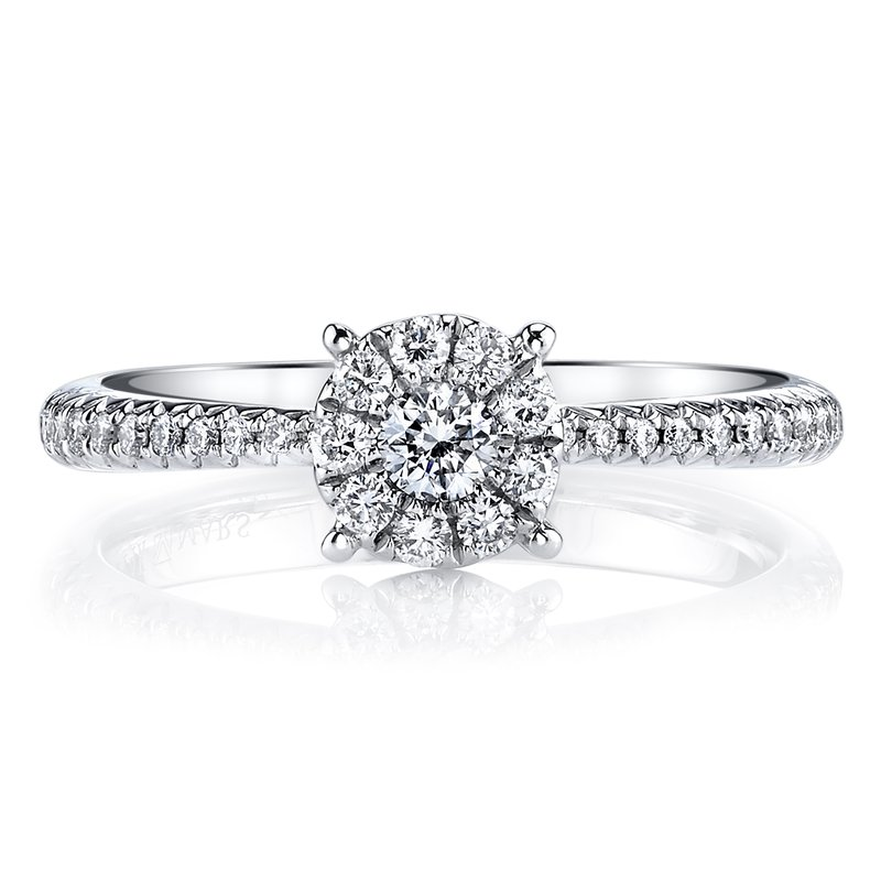 MARS Jewelry MARS 26160 Diamond Engagement Ring, 0.40 Ctw.