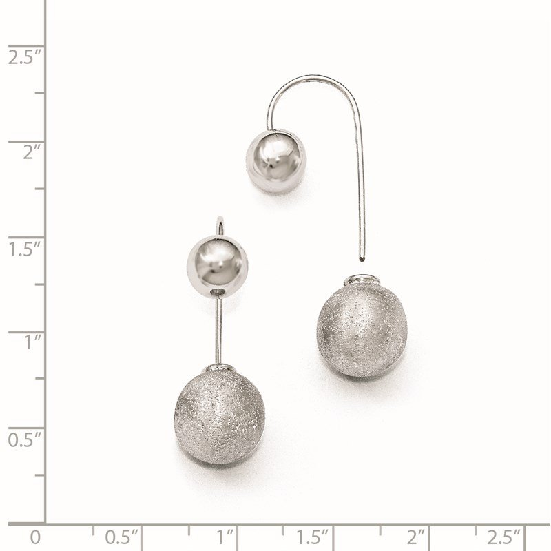 Leslie's Leslie's Sterling Silver Polished D/C Front Back Earrings