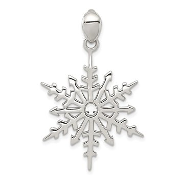 Sterling Silver Snowflake with Stellux Crystal Pendant