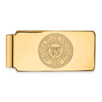 Gold-Plated Sterling Silver Arizona State University NCAA Money Clip
