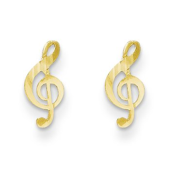 14k Madi K Polished Musical Note Post Earrings