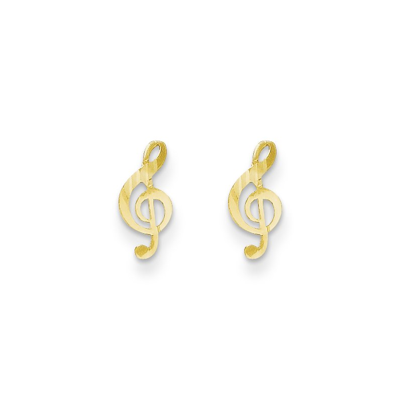 Quality Gold 14k Madi K Polished Musical Note Post Earrings