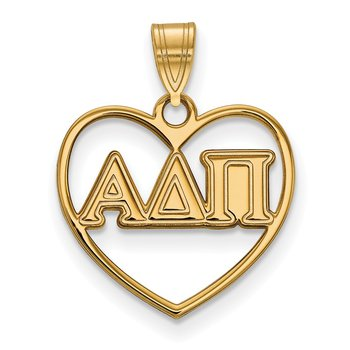 Gold-Plated Sterling Silver Alpha Delta Pi Greek Life Pendant