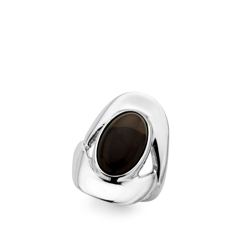Nambé Jewelry Oval Ring/Smokey Quartz  - S5