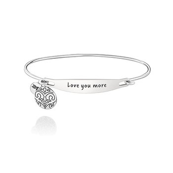 Love You More ID Bangle