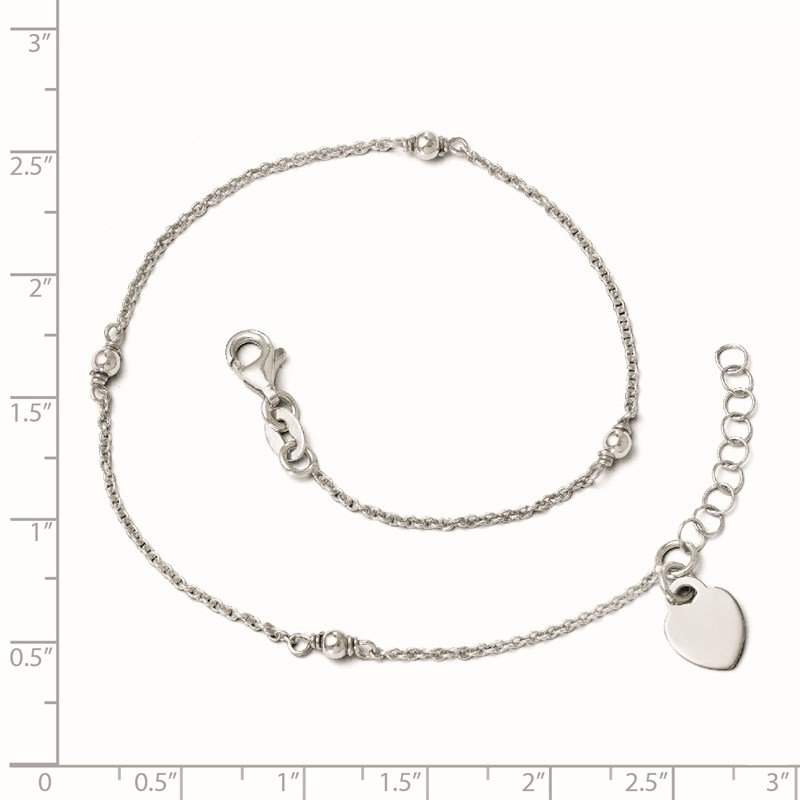 Leslie's Leslie's Sterling Silver Adjustable w/1in ext. Anklet