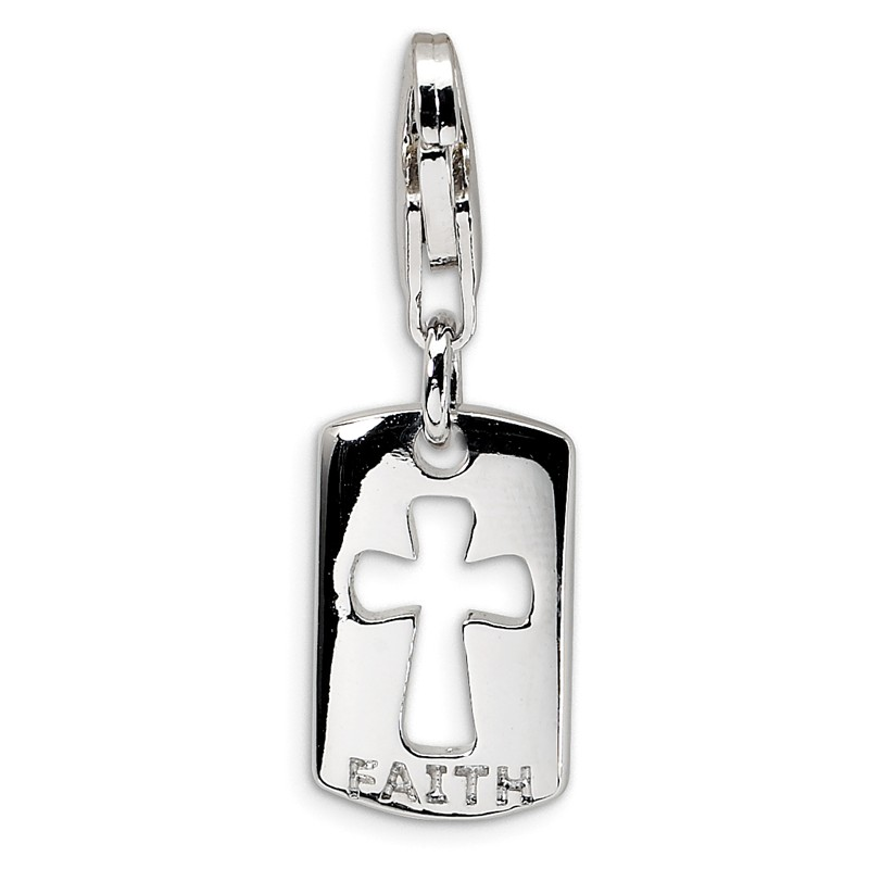 Sterling Silver 3-D CZ Ribboned Diploma w//Lobster Clasp Charm