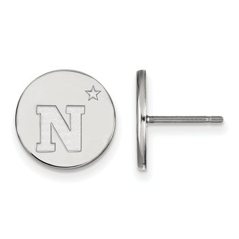 Sterling Silver United States Naval Academy NCAA Earrings