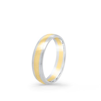 Platinum 18K Yellow Gold Two Tone Band