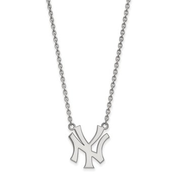 Sterling Silver New York Yankees MLB Necklace