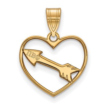Gold-Plated Sterling Silver Pi Beta Phi Greek Life Pendant