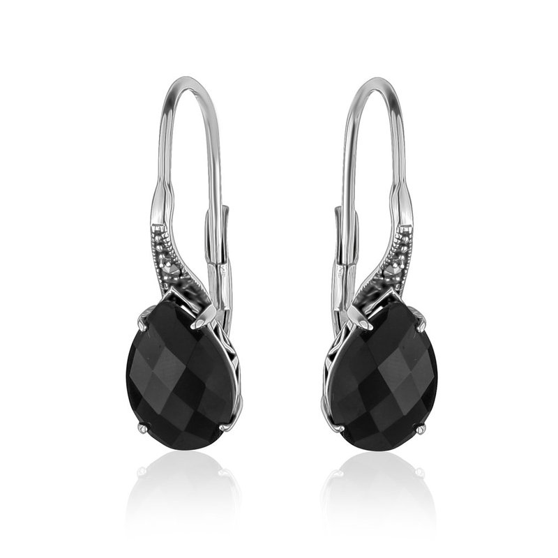 LARUS Jewelry Black Teardrop Earrings