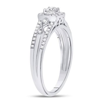 14kt White Gold Womens Round Diamond Solitaire Bridal Wedding Engagement Ring 1/3 Cttw