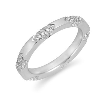 18K WG Diamond Wedding Band
