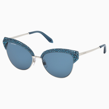 Moselle Cat Eye Sunglasses, SK164-P 90X, Opal Blue