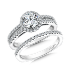 Valina Bridals Round halo mounting  .32 ct. tw.,  3/4 ct. round center.