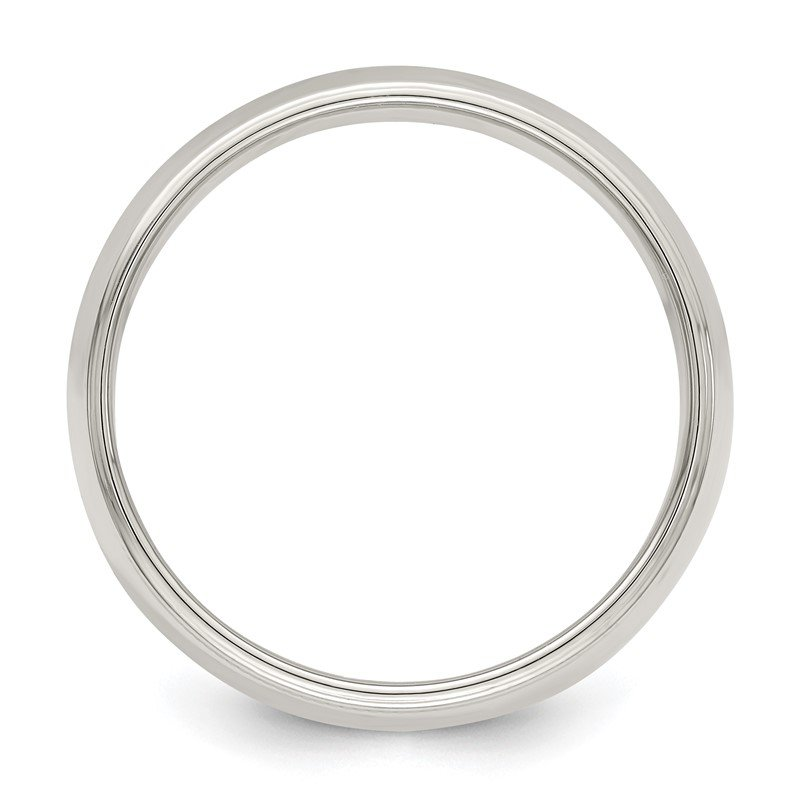 Quality Gold Sterling Silver 7mm Half Round Milgrain Band