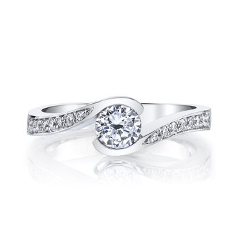 MARS 28173 Diamond Engagement Ring 0.13 Ctw.