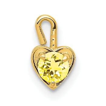 14ky November Synthetic Birthstone Heart Charm