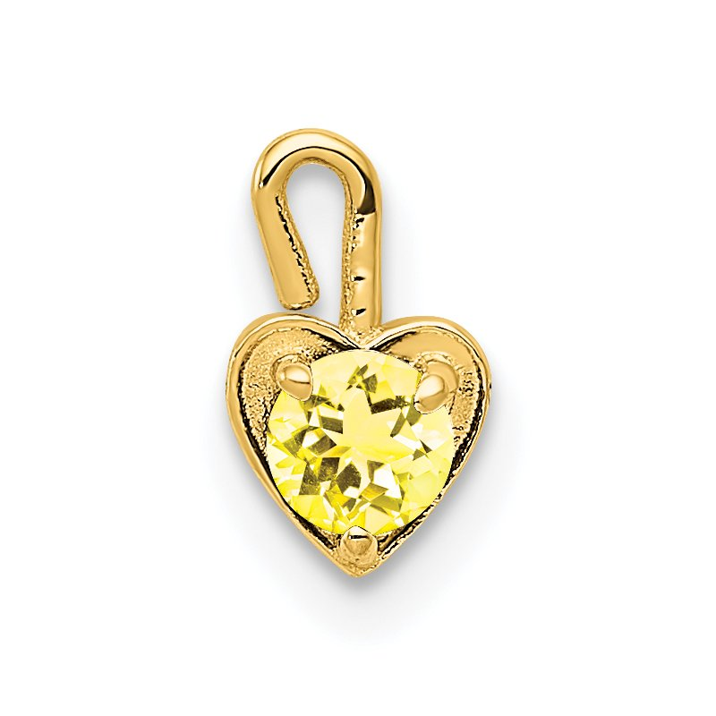 Quality Gold 14ky November Synthetic Birthstone Heart Charm