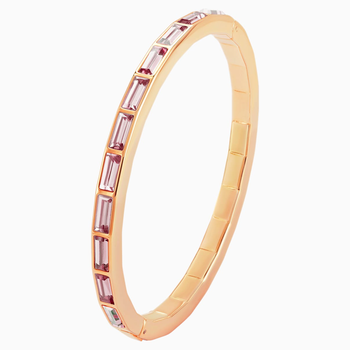 Fluid Bangle, Violet, Rose-gold tone plated