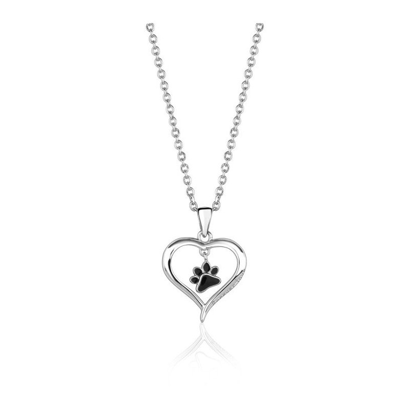 LARUS Jewelry Dog Paw Heart Pendant