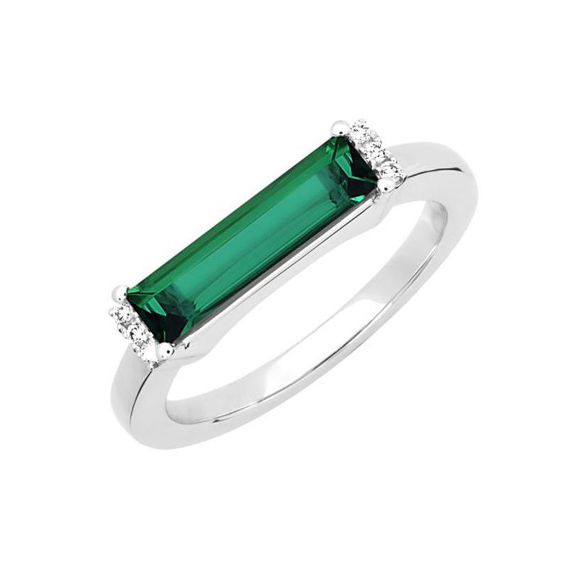 Chatham Emerald Ring-CR13126WEM