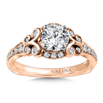 Valina Diamond Engagement Ring Mounting in 14K Rose Gold (.355 ct. tw.)