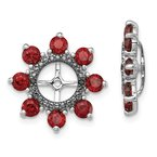 Quality Gold Sterling Silver Rhodium Garnet & Black Sapphire Earring Jacket