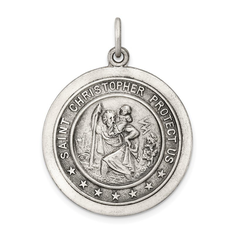 Fine Jewelry by JBD Sterling Silver St. Christopher Medal