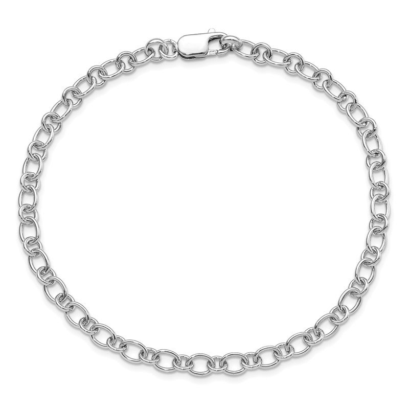 Quality Gold Sterling Silver Rhodium Plated Anklet