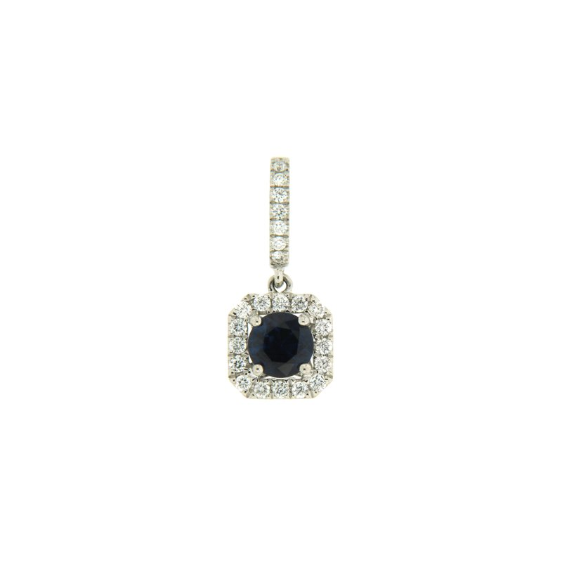 Paragon Fine Jewellery 18k White Gold Pendant with Sapphire & Diamond