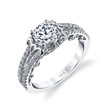 MARS 26130 Diamond Engagement Ring, 0.50 Ctw.