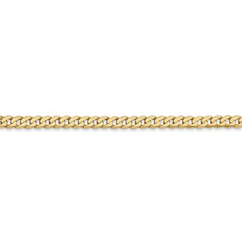 14k 2.9mm Flat Beveled Curb Chain