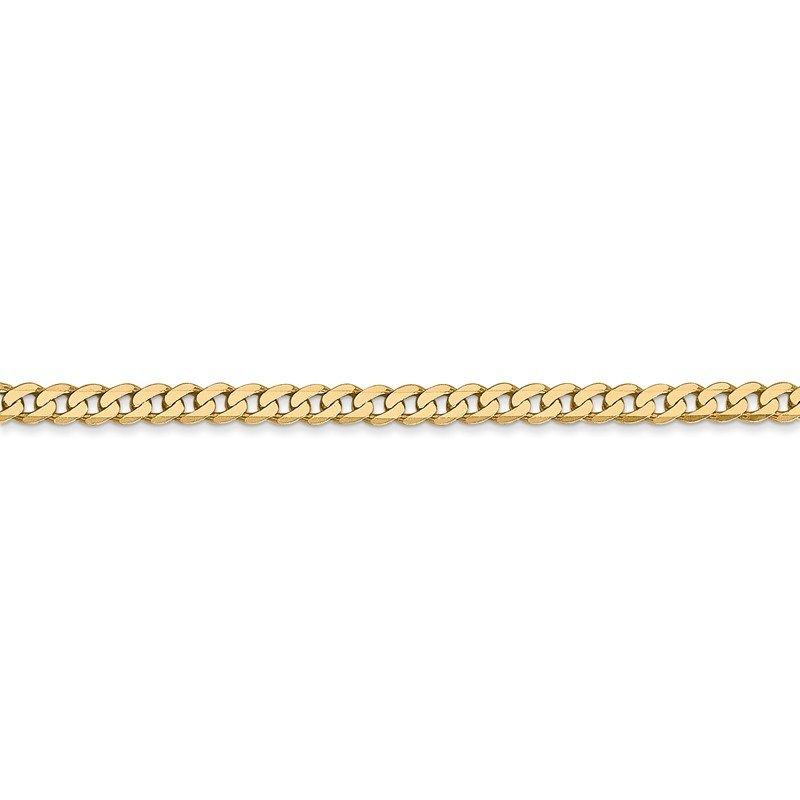 Quality Gold 14k 2.9mm Flat Beveled Curb Chain