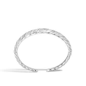 Legends Naga 11MM Flex Cuff in Silver with Diamonds