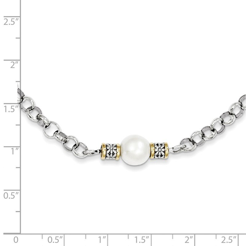 Shey Couture Sterling Silver w/14k 9-9.5mm FW Cultured Pearl 32in Necklace