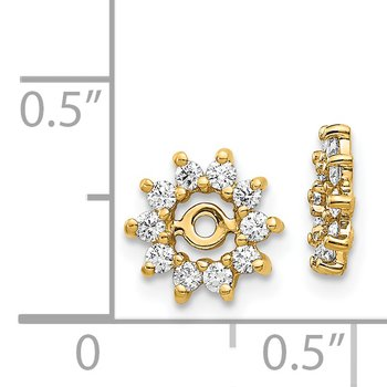 14k AA Diamond Earring Jacket