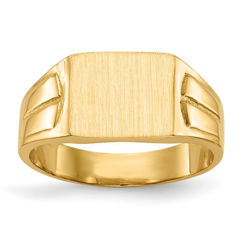 Quality Gold 14k 7.5x9.0mm Closed Back Signet Ring