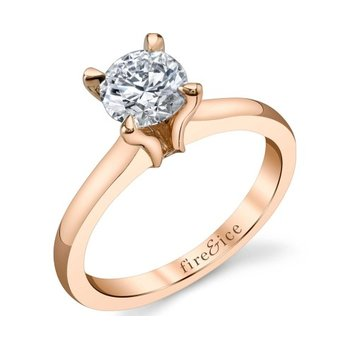 Fire & Ice Solitaire Engagement Ring