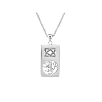 Scottish Lion Rampant Rectangle Pendant