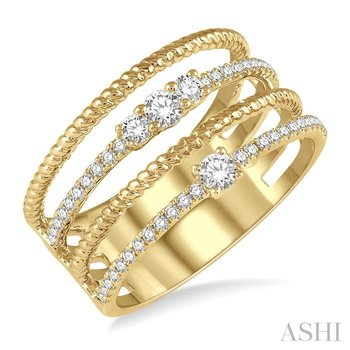 diamond fashion open ring