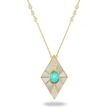 Amazon Breeze MOP Necklace 18KY