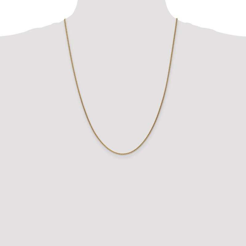 Quality Gold 14k 1.65mm Spiga Chain