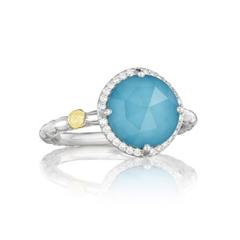 Pavé Simply Gem Ring featuring Neo-Turquoise