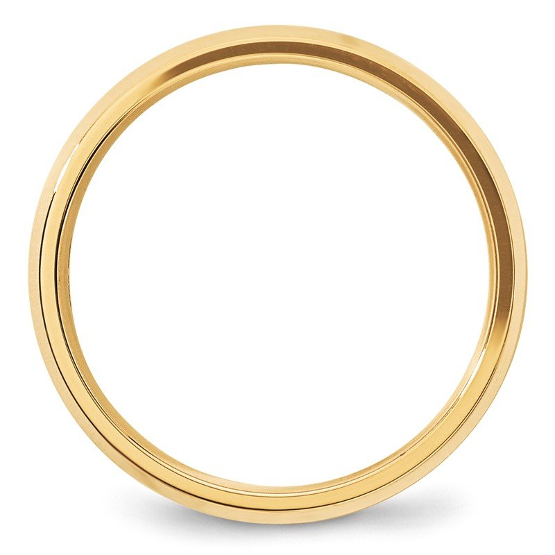 Quality Gold 14KY 5mm Bevel Edge Comfort Fit Band Size 10